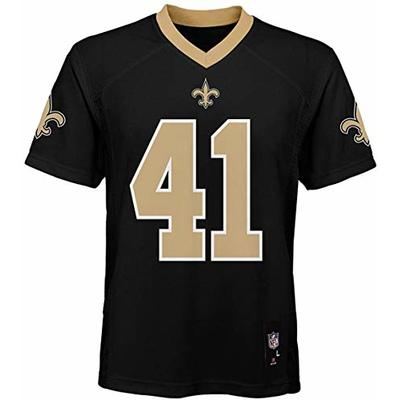 Alvin Kamara New Orleans Saints NFL Boys Youth 8-20 Black Home Mid-Tier Jersey (Youth X-Large 18-20)