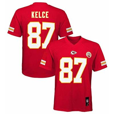 Outerstuff Travis Kelce Kansas City Chiefs NFL Youth Red Home Mid-Tier Jersey (Youth X-Large 18-20)