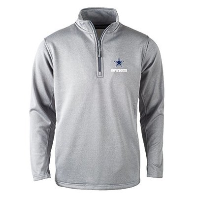 NFL Dallas Cowboys Mens All Star Tech Fleece 1/4 Zip, Heather Grey, Large