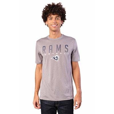 Ultra Game NFL Los Angeles Rams Mens Active Tee Shirt, Heather Gray19, Large
