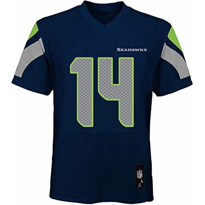 DK Metcalf Seattle Seahawks NFL Boys Youth 8-20 Navy Home Mid-Tier Jersey (Youth Large 14-16)