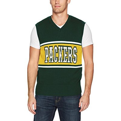 OTS NFL Green Bay Packers Men's Sweater Vest, Logo, Large