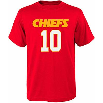 NFL Kids Youth Team Color Alternate Mainliner Name and Number Player T-Shirt (Large (14-16), Tyreek Hill Kansas City Chiefs Home Red)