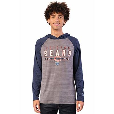 NFL Ultra Game Chicago Bears Athletic Performance Soft Pullover Hoodie Sweatshirt, Large, Team Color