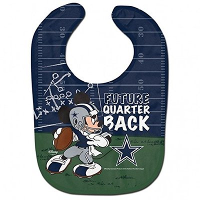 WinCraft NFL Dallas Cowboys All Pro Style Baby Bib, One Size, Team Color