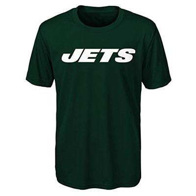 "NFL by Outerstuff NFL New York Jets Youth Boys""Goal Line Stand"" Performance Tee Hunter Green, Youth Large(14-16)"