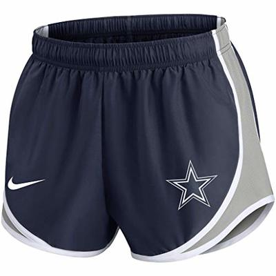 NFL Dallas Cowboys Womens Nike Tempo Short, Navy/Silver/White, Large