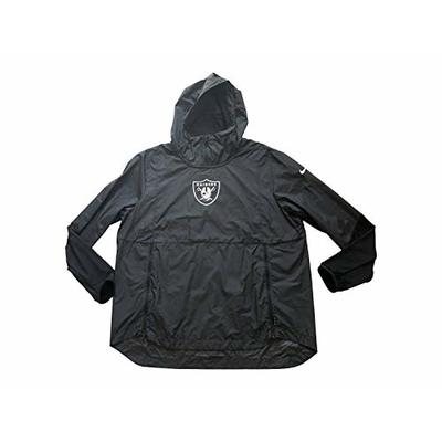 Nike Men's Oakland Raiders NFL Lightweight Hooded Jacket 100% Polyester Jackets (XX-Large, Black AO3965)