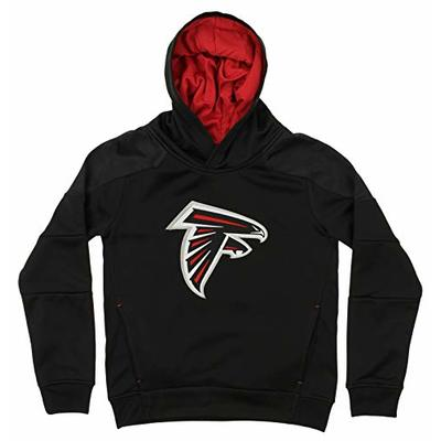 Outerstuff NFL Youth's Mach Speed Pullover Hoodie, Atlanta Falcons Medium (10-12)