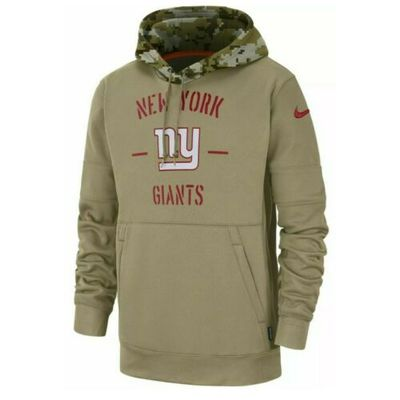 New York Giants Tan Men's Nike 2019 Salute to Service Sideline Hoodie, 2XL – NWT