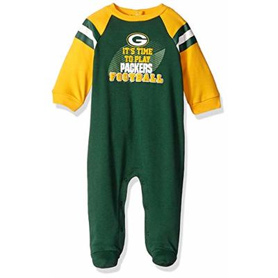 NFL Green Bay Packers Team Sleep And Play Footies, green/yellow Green Bay Packers, 3-6 Months (138731160PKR06M-308)