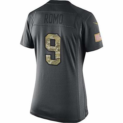 NFL Dallas Cowboys Tony Romo Womens Nike Salute to Service Jersey, Anthracite, S