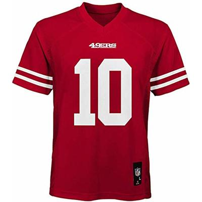 Outerstuff Jimmy Garoppolo San Francisco 49ers NFL Youth 8-20 Red Home Mid-Tier Jersey (Youth Large 14-16)