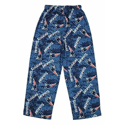 Outerstuff New England Patriots NFL Navy Team Colorway Print Youth Pajama Pants (Small)