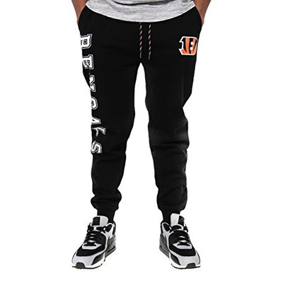 NFL Ultra Game Cincinnati Bengals Active Basic Jogger Fleece Pants, X-Large, Alternate Team Color