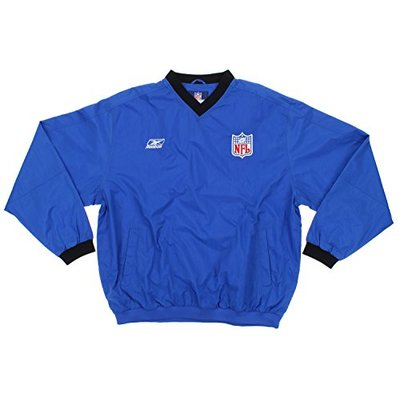 NFL Football Mens Sideline V-Neck Pullover Hot Jacket, Royal