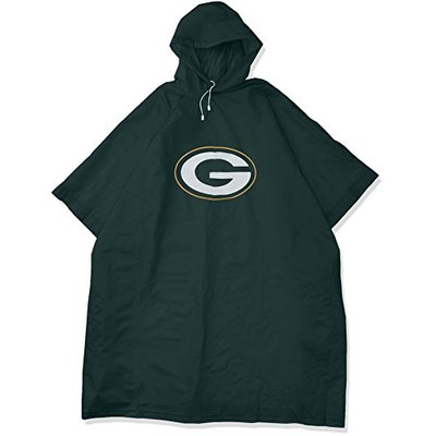 NFL Green Bay Packers Deluxe Poncho, 44″ x 49″