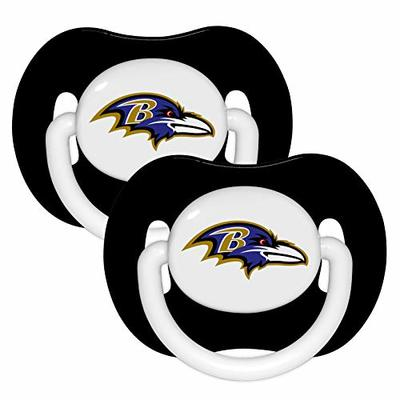 Baltimore Ravens 2-Pack Black Infant Pacifier Set – 2014 NFL Baby Pacifiers
