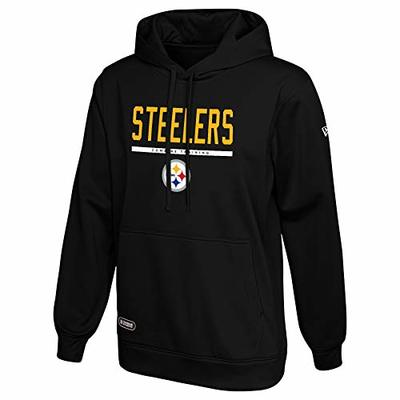 New Era NFL Men's Safety Fleece Pullover Hoodie, Pittsburgh Steelers Large