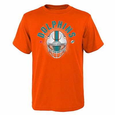 Outerstuff NFL Youth Boys (6-20) Stare Down Short Sleeve Tee, Miami Dolphins Small (8)