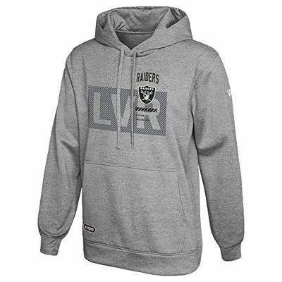 New Era NFL Men's Drill Performance Heather Grey Pullover Hoodie, Las Vegas Raiders X-Large