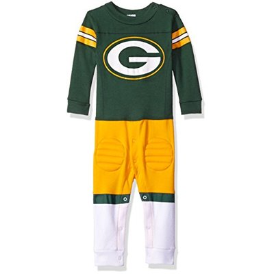 NFL Green Bay Packers Unisex-Baby Footysuit Coverall, Gray, 12 Months