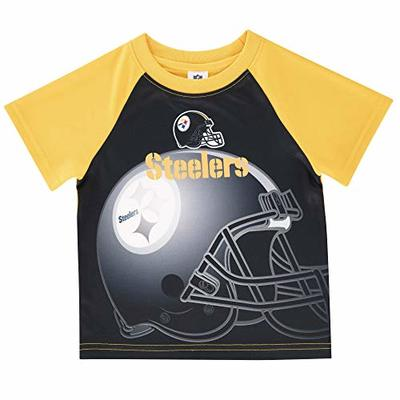 NFL Pittsburgh Steelers Boys Short Sleeve T-Shirt, Multi-Color, 3T