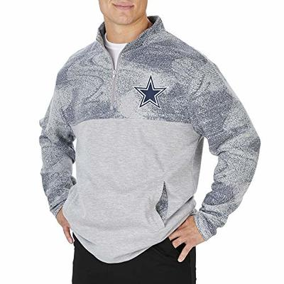 NFL Dallas Cowboys Mens Sherpa Fleece 1/4 Zip, Gray, X-Large