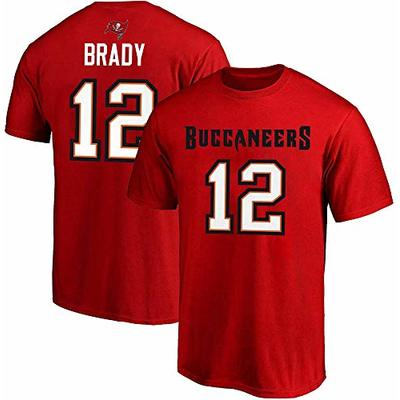 NFL Boys Youth 8-20 Team Color Mainliner Official Player Name & Number T-Shirt (Tom Brady Tampa Bay Buccaneers, Youth Medium 10-12)