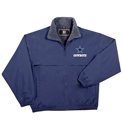 NFL Dallas cow Triumph Fleece Lined Mid Weight Jacket, Large, Navy