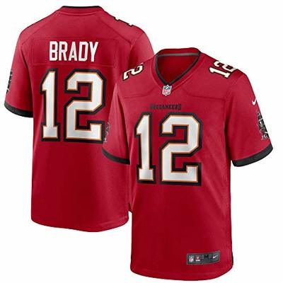 Nike Tom Brady Tampa Bay Buccaneers NFL Boys Youth 8-20 Red Home On-Field Game Day Jersey (Youth Large 14-16)