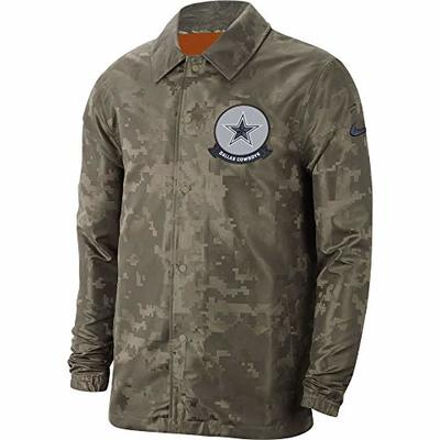 Dallas Cowboys NFL Mens Nike Mens Salute to Service Lightweight Jacket, Olive, Small