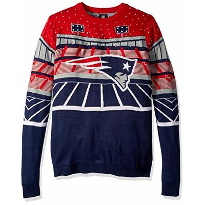 NFL New England Patriots BLUETOOTH Ugly Sweater, Large