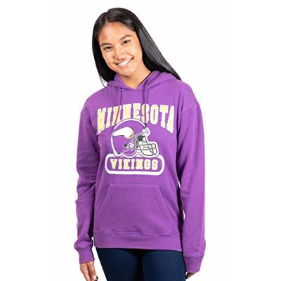 Ultra Game NFL Minnesota Vikings Womens Fleece Hoodie Sweatshirt, Team Color, Large
