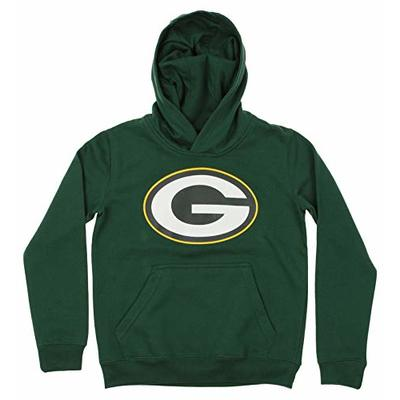 Outerstuff NFL Youth Boy's (8-20) Primary Logo Team Color Fleece Hoodie, Green Bay Packers Large(14-16)