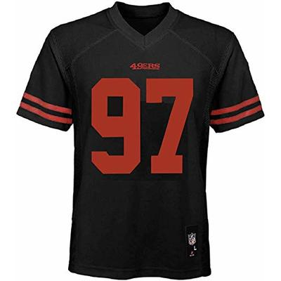 Outerstuff Nick Bosa San Francisco 49ers NFL Boys Youth 8-20 Black Alternate Mid-Tier Jersey (Youth Medium 10-12)