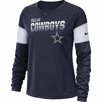 NFL Dallas Cowboys Womens Nike Long Sleeve Breathe Top, Navy, Medium