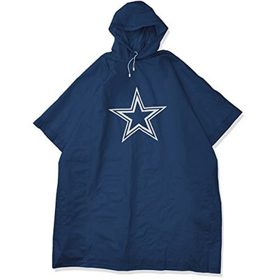 NFL Dallas Cowboys Deluxe Poncho, 44″ x 49″
