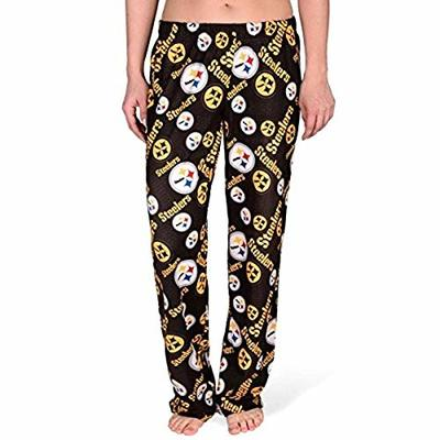 FOCO NFL Pittsburgh Steelers Repeat Logo Print Polyester Sleepwear Pants, Small, Team Color