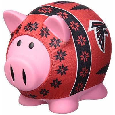 FOCO NFL Atlanta Falcons Sweater Pig Bank, Black