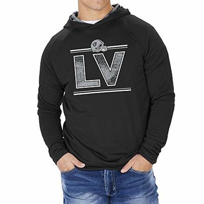 Zubaz NFL Las Vegas Raiders Men's French Terry Lightweight Hoodie with Static Hoodie Liner, Solid Black, X-Large