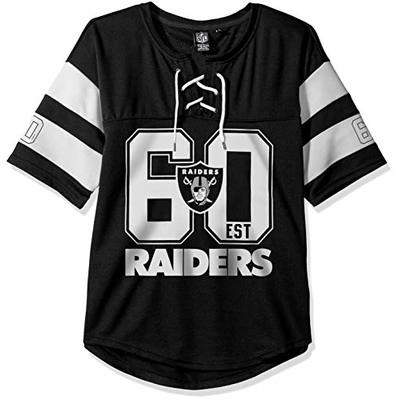 Ultra Game NFL Las Vegas Raiders Womens Penalty Box Jersey, Team Color, Large