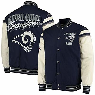 NFL Los Angeles Rams Super Bowl Champions Victory Formation Varsity Jacket (X-Large)