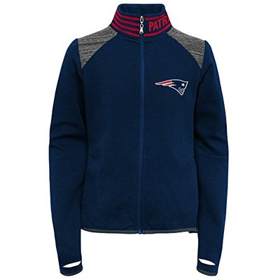Outerstuff NFL New England Patriots Youth Boys Aviator Full Zip Jacket Dark Navy, Youth Large(14)