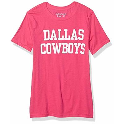 NFL Dallas Cowboys Womens Coaches Too Crew, Pink, Small