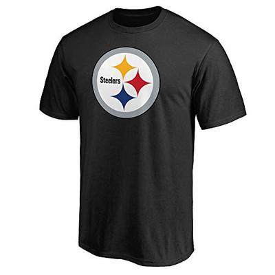 NFL Boys Youth 8-20 Team Color Primary Logo T-Shirt (Pittsburgh Steelers, Youth Medium 10-12)