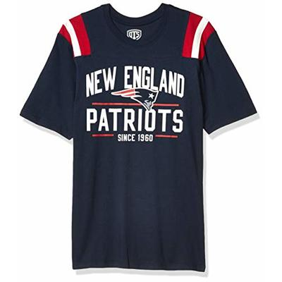 OTS NFL New England Patriots Men's Lineup Short Sleeve Tee, Line Up, Large
