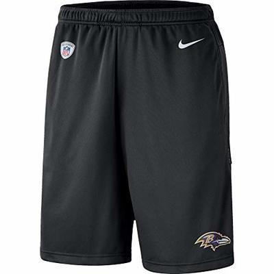 Nike NFL Boys Youth 8-20 Sideline Coaches Performance Dri-Fit Shorts (Baltimore Ravens, Youth Small 8)