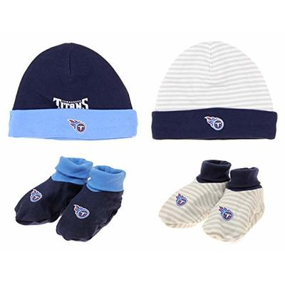 Outerstuff NFL Newborn Tennessee Titans Favorite Team Set with Cap & Booties, One Size