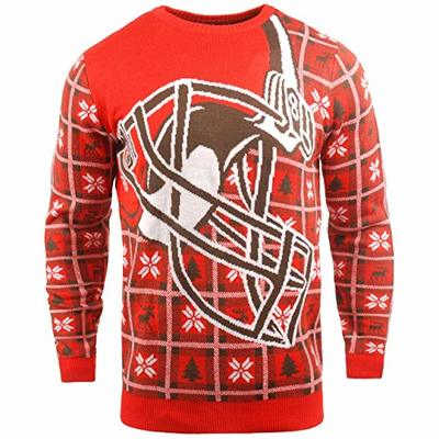 FOCO NFL Ugly Sweater Xmas Knit Pullover – Cleveland Browns – L